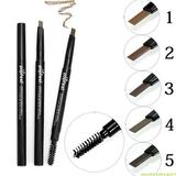 Automatic double eyebrow pencil authentic waterproof and sweat not shading lasting makeup thrush eye